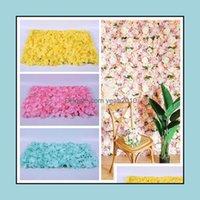 Decorative Flowers Wreaths Festive Supplies Home & Gardeneco-Friendly Hydrangea Delicate Artificial Durable Silk Flower Wall Backdrop Weddin