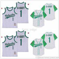 Mens Usa Movie Kekambas сшитые бейсбол 1 Ярд G-Baby Evans Evans Вышивка спортивные футболки майки оптом Униформа высокое качество