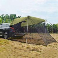 Палатки и приюты на открытом воздухе автомобиль задний удлинитель на свежем воздухе солнечная палатка автомобиль багажник бокового тента внедорожник