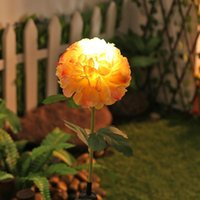 Solar Lamps Artificial Hydrangea Designed Led Powered Highlight Night Light Color Changing Flower Grass Lawn Plug-in Decor Land Lamp