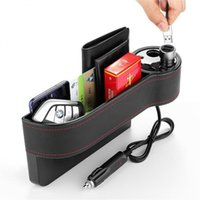 Car Organizer USB Charging Box Seat Slit Gap Pocket Storage Glove Slot Multi-functional Holders Stowing Tidying