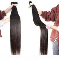 Paquetes de cabello humano recto brasileño 22 24 26 28 30 32 34 36 38 40 pulgadas Venta al por mayor 3 paquetes Virgin Hair Color Natural Color Virgin Weave