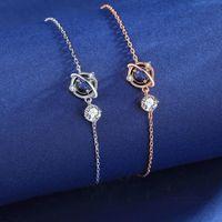 Charm Bracelets Fashion Minimalism Crystal Planet Bracelet &Bangle For Women Girl Wedding Jewelry Party Pulseras Mujer