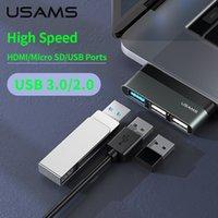 Typ-C-kabel Mini Hub USB 3.0 2.0 HUB MULTI USB SPLITTER ADAPTER för iPad Pro / Laptop / Telefon / PC USB-nav Expander High Speed
