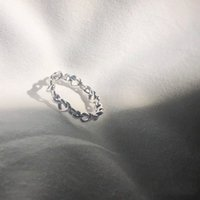 New heart-shaped interlaced couple ring suitable for Pandora original box 925 sterling silver fashion beautiful summer jewelry men's gifts girl Jewelry