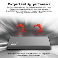 EAGET M1 유형 C 외부 SSD 1TB 고속 USB 3.0 휴대용 하드 드라이브 솔리드 랩톱 용 솔리드 스테이트