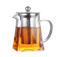 Пьяный курс кухня обедая тепловая площадь стеклянного чайника с инфузором фильтр молочный цветок чайник горшок