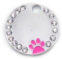 Tallo de identificación de perros anti-perdidos Perros Personalizados Perros Gatos Nombre Etiquetas Collares Collares grabados Accesorios de placa de mascotas BWE7305