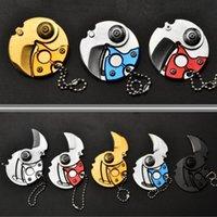 Tragbare Mini-Faltklinge Münze Messer Taschenwerkzeug Kleine Outdoor Military Survival Messer Keychain Multifunktionswerkzeuge 5 Farben NHF8308
