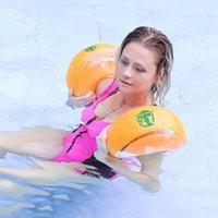 Kamizelka ratunkowa boja 2 sztuk dzieci ramienia pierścionki nadmuchiwane basen pływak koło rękawy boobs opaski dorosłych chłopców dziewcząt pomoc