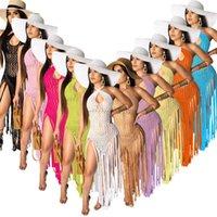 Womens 수영복 섹시한 중공 술 해변 복장 드레스 2021 수영복 여성 수영복 수영복 수영복 비치웨어 휴가