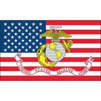 Großhandel Fabrik Preis 100% Polyester 90 * 150 cm 3x5 fts United States Marine Corps Flagge für Dekoration GWB6003