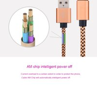 1M 2M 3M Fabric Nylon Durable Brand Phone Cables High Quality Braided Wire Micro V8 Cable USB Data Sync Woven Charger cord