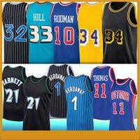 Tim 1 Hardaway Kevin 21 Garnett Dennis 10 Rodman Isiah 11 Thomas Grant 33 Hill Retro Koleji Basketbol Forması