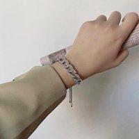 Link, Kette Aensoa Mode Einstellbare Kristall Geometrische Armband Armreif Für Frauen Luxus Strass Hochzeit Schmuck Geschenk