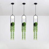 Nordic Modern Bitki Kolye Işıkları Skygarden Yemek Odası Restoran Için LED Lamba Restoran Yatak Odası Bar Aydınlatma Armatürleri Ev Dekor Işık Lambaları