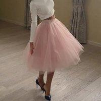 Kwaliteit 5 Lagen Mode Tule Rok Geplooid Tutu S Womens Lolita Petticoat Bruidsmeisjes Midi Jupe Saias Faldas
