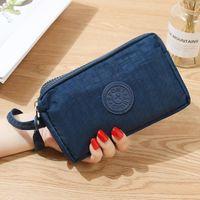 Wallets Fashion Women Canvas Wallet Clutch Bag Lady Coin Purse Phone Three-layer Zipper Big Capacity Handbag Makeup