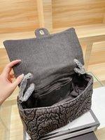 الجملة العلامات التجارية الفاخرة حقيبة مخصصة الأزياء غسلها + الدنيم حزمة سعة عالية جنبا إلى جنب مع البعد الجنسي 33 25 سم لطيف