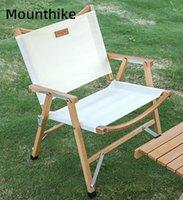 Auf Lager Outdoor Outdoor Folding tragbarer Strandstuhl aus Holz Ultralight Camping Angelstühle Home Relax Moon Sessel Zubehör