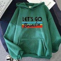 Fashion Lets Go Brandon Men Letter Print Hoodie Unisex Sweatshirt Casual Hoody Harajuku Streetwear Hip Hop Basic