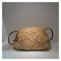 Cross Body Real Fur Shoulder Bag Designer Woolly Handbag For Women Small Crossbody Cute Phone