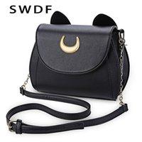 Вечерние сумки SWDF Летний моряк луна дамская сумка черная луна кошка форма цепь на плечо сумка из искусственной кожи женщин по местурге
