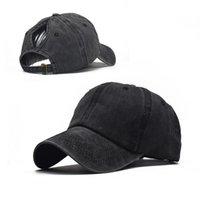 Novo Tampão Beisebol Lavado Moda Moda Curvo Brim Primavera e Verão Feminino Esportes ao ar livre Sun Hat