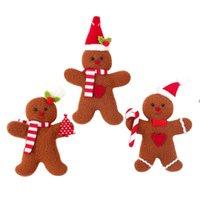 Gingerbread رجل عيد الميلاد قلادة الديكور كوكي دمية أفخم سانتا شجرة القطعة الحلي عيد الميلاد لوازم BWA7855