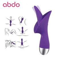 ABDO Инновационный язык, облизывающий клитор стимулятор аккумуляторной 10-скоростной вибрации массажер женская игрушка фаллоимитатор секс продукты Y201118