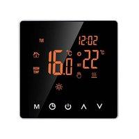 Smart Home Control Flocke Flammenhemmung PC Thermostat Elektrische Heizung Temperaturregler LCD-Anzeige Digital-Touchscreen-Büro