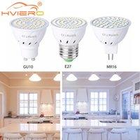 GU10 LED E27 Lampspotlight Birne 48 60 80LEDS LAMPARA 220V GU 10 Bombillas MR16 GU5 3 Lampada Spot Light 5W 7W 9W