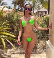 Bikini Sexy Star a cinque punte Bikini Esplosione Modelli Cintura trasparente Costume da bagno Swimwear Swimwear Split Swimwear