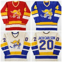 52Vintage 1970-76 20 Jack Carlson Mike Walton 4 Ray McKay Minnesota Sabah Saints Hokey Jersey Herhangi bir oyuncuyu veya ismi özelleştirin