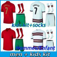 Ronaldo Soccer Jerseys Men Kids Kits 20 21 Joao Felix Bernardo Cancelo Ruben Neves 2021