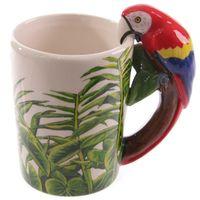 Кружки творческий попугай пробуждения Маленькая лягушка 3D стерео птица чашка птицы керамическая нарисованная рука животное детская комната комната уборка
