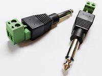 오디오 커넥터, 6.35mm 모노 남성 - 2 핀 스크류 터미널 여성 마이크로폰 발룬 솔더리스 컨버터 어댑터 / 10pcs