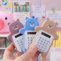 Calculadora de urso bonito dos desenhos animados mini portátil pequeno portátil Calculatortable Escola primária