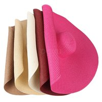 حافة واسعة القبعات 25 سنتيمتر المتضخم شاطئ طوي المرأة كبيرة الصيف الشمس الجملة الظل قبعة uv حماية