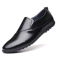 Male Footwear Brand New Fashion Men Loafers Men Leather Casual Shoes High Quality Adult Moccasins Men Driving Shoes *