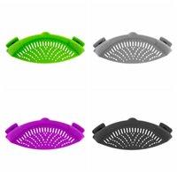 Cozinha, escorredor, silicone, pote, lado, lado, derramamento, prato, escorredor, criativo, filtro água, macarrão, escova à prova de vazamento HHC6817