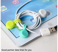 다기능 실리콘 자기 와이어 케이블 주최자 전화 키 코드 클립 USB 이어폰 클립 데이터 라인 저장 홀더 OOD5555