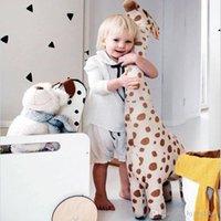 67 см Симпатичные Гигантский Размер Жираф Плюшевые Игрушки Симпатичные Фаршированные Животные Мягкие Жирафы Кукла Игрушки Для Детских Детских День Рождения Подарок