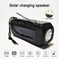 TG280 SOLAR SOLAR Bluetooth Speaker Stereo Subwoofer Portátil Centro de Música Ao Ar Livre Com Flashlight FM Radio