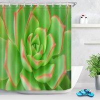 Cortinas de ducha LB Cortina de poliéster a prueba de agua Red Verde negro Agave Semillas de Agave Planta Hoja Tela de baño para bañera Decoración para el hogar
