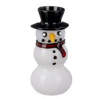 Latest Snowman Pyrex Thick Glass Pipes Smoking Tube Handpipe Portable Handmade Dry Herb Tobacco Oil Rigs Filter Bong Hand Novelty Art DHL Free