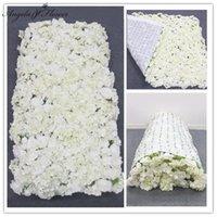 Декоративные цветы венки 3D творческий свернут ткань цветок стены искусственного компоновки DIY свадебный фон фон гортензия роза свадьба е