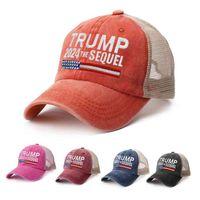 5 색 트럼프 2024 Biden Summer Net Peak Cap 미국 대통령 선거 야구 씻어 목화 태양 모자 LLA564