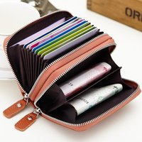 Card Holders 2021 Women Wallets Genuine Leather ID Holder Wallet Clutch Cowskin Designer Small Purse Unisex Handy Bag