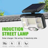 Solar Lamps LED COB Street Light Waterproof Motion Sensor Smart Remote Control Lamp Outdoor Security Wall